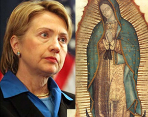 Image result for clinton mexico virgin guadalupe images
