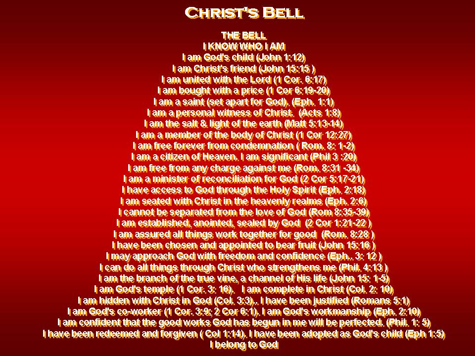 Christmas Bell uses Scripture to remind us who we are | Doug ...