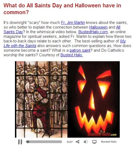 Halloween All Saints Day Connection