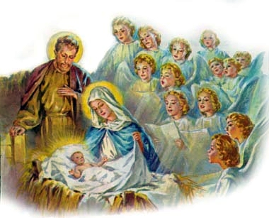 nativityscenewheavenlyhost