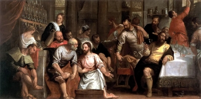 Christ Washing the Feet of His Disciples by Paolo Veronese 1580